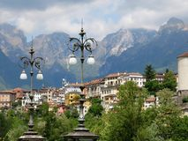 Belluno Montains Lamps Italy royalty free stock image