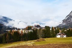Belluno province and Dolomiti mountains Royalty Free Stock Photo