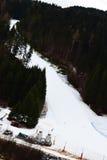 Belluno province, ski path, Dolomiti mountains, Italy Royalty Free Stock Photos