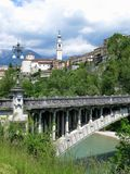 Belluno Unusual Bridge Italy Royalty Free Stock Images