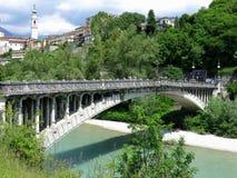 Belluno Unusual Bridge Italy Stock Photography