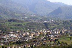 Belluno: view from San Liberale church Stock Photos
