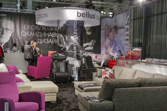 Bellus upholstered furniture booth royalty free stock photos