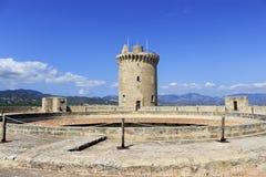 Bellver城堡在帕尔马 库存图片