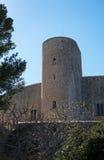 Bellver城堡塔 库存图片