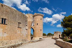 Bellver城堡是一座哥特式样式城堡 库存图片