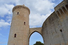 Bellver城堡的城堡的主楼 库存照片