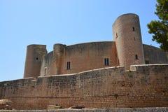 Bellver城堡, (卡斯特尔de Bellver)马略卡,西班牙 免版税库存图片