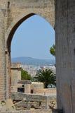 Bellver城堡, (卡斯特尔de Bellver)马略卡,西班牙 免版税库存照片