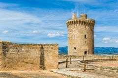 Bellver城堡 免版税库存照片
