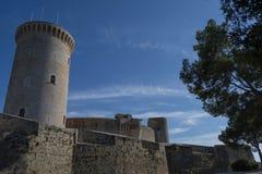 Bellver Castile, Palma Majorca używać dla scen w grą trony obraz royalty free