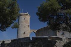 Bellver Castile, Palma Majorca wysoki na wzgórzu dla ochrony obraz stock