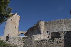 Bellver Castile, Palma Majorca wysoki na wzgórzu dla ochrony obraz royalty free