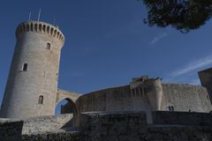 Bellver Castile, Palma Majorca wysoki na wzgórzu dla ochrony obrazy stock
