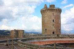 Bellver castle. Top view in Palma de Majorca Royalty Free Stock Photography