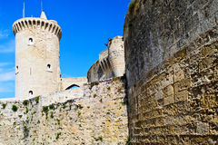 Bellver castle. Castillo tower in Majorca at Palma de Mallorca Balearic Islands Stock Photography