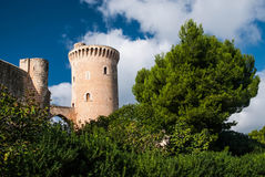 Bellver Castle. Castillo tower, in Majorca at Palma de Mallorca Balearic Islands Stock Photo