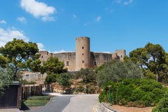 Bellver Castle Castillo. Tower in Majorca at Palma de Mallorca Balearic Islands Royalty Free Stock Images