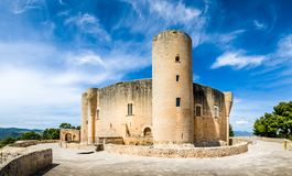 Bellver Castle. Fortress in Palma-de-Mallorca, Spain Stock Photos
