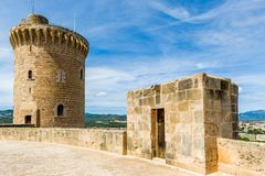 Bellver Castle. Fortress in Palma-de-Mallorca, Spain Stock Image