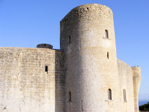 Bellver Castle in Mallorca, Spain. Tower of Bellver Castle in Palma de Mallorca, Spain Royalty Free Stock Photos