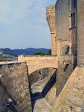 Bellver Castle in Palma de Mallorca, Spain. Details Bellver Castle in Palma de Mallorca Stock Photo
