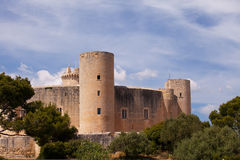 Bellver Castle, Palma, Majorca. Close-up view of Bellver Castle overlooking Palma, Majorca Stock Photo