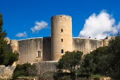 BELLVER CASTLE IN PALMA, MAJORCA stock image