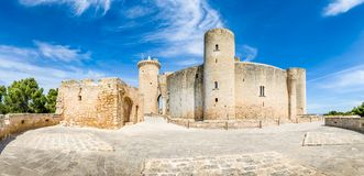 Bellver Castle panorama. Panorama of Bellver Castle fortress in Palma-de-Mallorca Royalty Free Stock Photography
