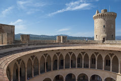 Bellver castle. View on Bellver castle, Palma of Mallorca, Spain Stock Image