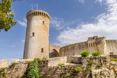 Bellver kasztelu forteca w Palmie de Mallorca zdjęcie stock