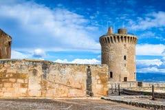 Bellver-Schloss, Palma de Mallorca lizenzfreie stockfotos