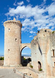Bellver-Schloss, Palma von Mallorca, Spanien stockfoto