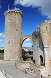 Bellver slott Royaltyfri Fotografi