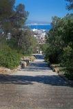 Bellver staircase Palma view Stock Image