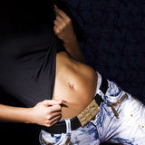Belly of beautiful woman Stock Photo