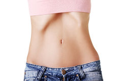 Young female with anorexia. Belly of beautiful young female with anorexia stock images