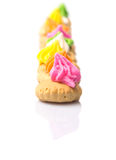 Belly Button Iced Gem Biscuits IX Stock Photography