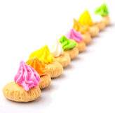 Belly Button Iced Gem Biscuits XII Royalty Free Stock Images