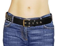 Belly button jeans Stock Image