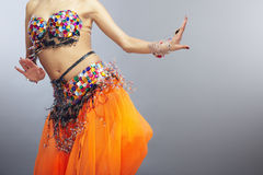 Belly dance. Moving torso of the woman dancing belly dance Stock Image