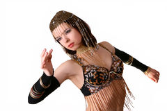 Belly dance. Eastern woman in belly dance Stock Images