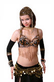 Belly dance. Eastern woman dancing belly dance Stock Images