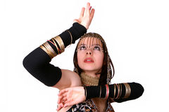 Belly dance. Eastern woman in belly dance Royalty Free Stock Photos