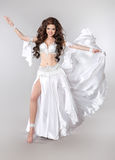 Belly dance. Bellydancer. Beautiful brunette Gorgeous Arabian Wo Royalty Free Stock Photography