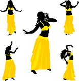 Belly dance dancer Royalty Free Stock Image