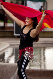 Belly Dance Demonstrator at Event Stock Photography