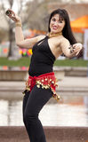 Belly Dance Demonstrator at Event Royalty Free Stock Photography