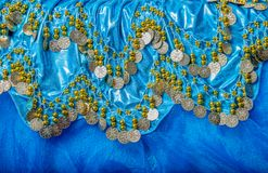 Belly dance dress. The details of a dress belly dancing stock image