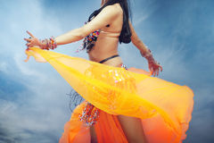 Belly dance outdoors Royalty Free Stock Photography